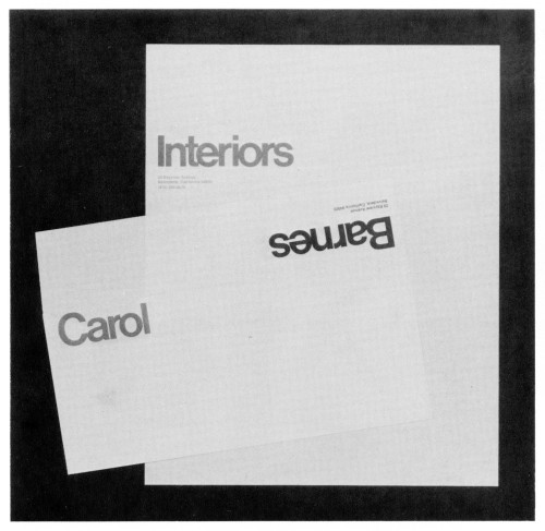 Carol Barnes, stationery, business card