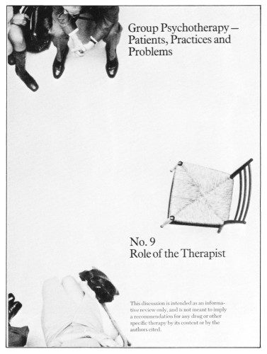 Group Psychotherapy-Patients, Practices and Problems, No. 9, booklet