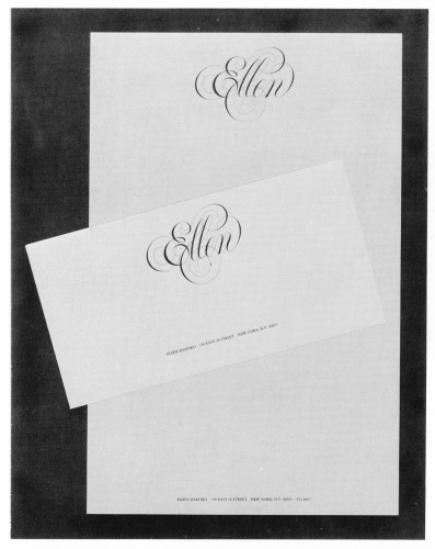 Ellen Shapiro, stationery