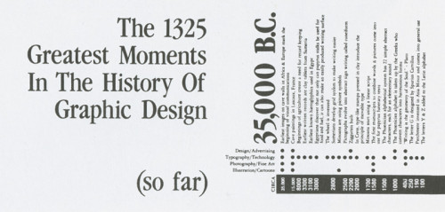 The 1325 Greatest Moments in the History of Graphic Design