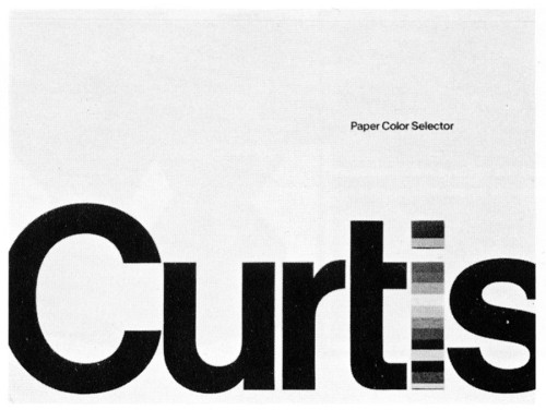 Curtis Paper Color Selector, folder