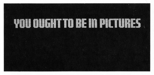 You Ought To Be in Pictures, storyboard booklet