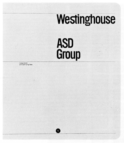 Westinghouse ASD Group Components, looseleaf catalog