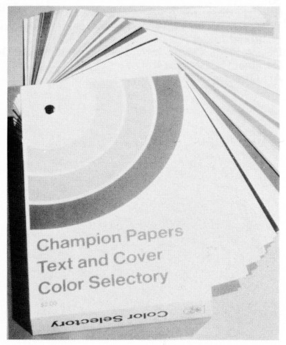 Champion Papers Text and Cover Color Selectory, sample book
