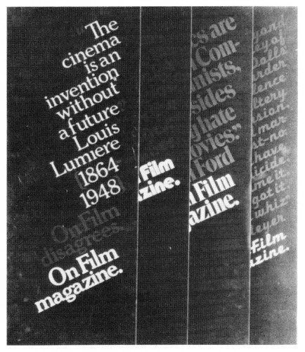 On Film, magazine promotion posters
