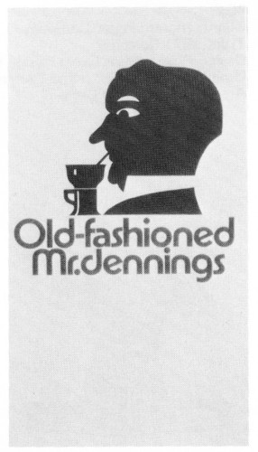 Old-Fashioned Mr. Jennings, menus