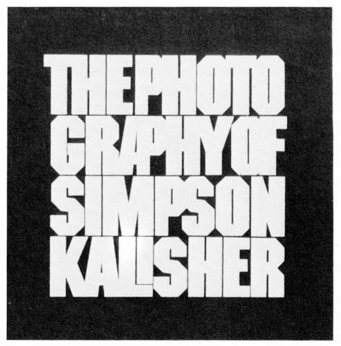 The Photography of Simpson Kalisher, brochure
