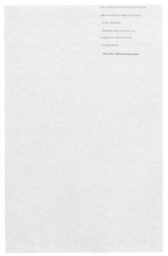 Richard G. Stein and Associates, promotional folder