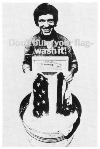 Don't Burn Your Flag—Wash It!, poster