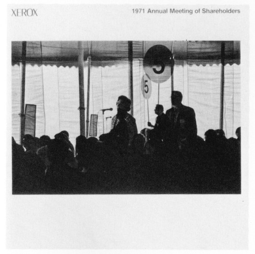 1971 Annual Meeting of Shareholders, brochure