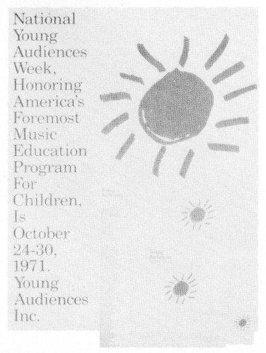 Young Audiences Inc., stationery, business card, poster