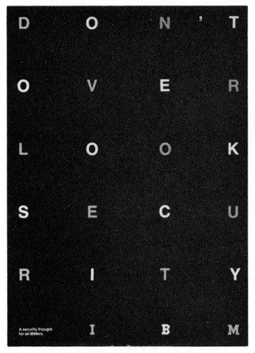 Don't Overlook Security, poster
