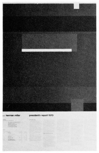 President's Report 1970, annual report/poster