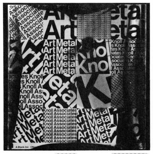 Art Metal—Knoll, announcement mailer