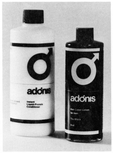 Adonis Hair Products, packaging
