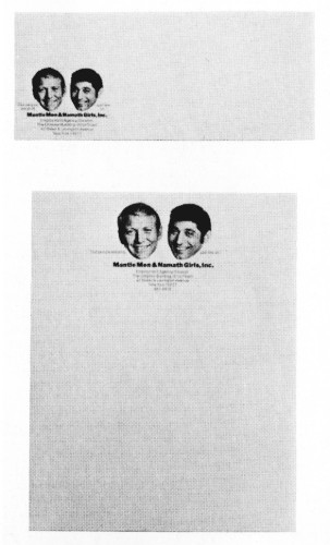 Mantle Men & Namath Girls, Inc., letterhead