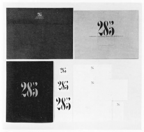 285, The Design Division, stationery and portfolio