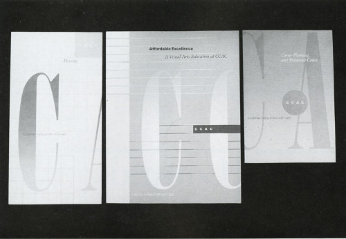 California College of Arts & Crafts, Information Brochures