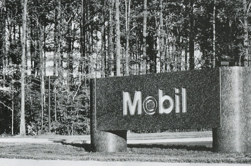 Mobil Corp. Headquarters Signage
