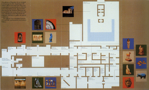 A Plan of the Lila Acheson Wallace Galleries of Egyptian Art/ Time Line of Culture in the Nile Valley