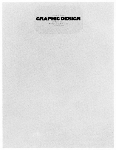 Robert E. Bruce Graphic Design, letterhead