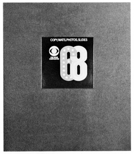 CBS News Compaign Republican & Democratic '68, promotion kit and label