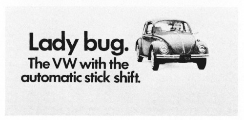 Lady Bug The Vw With The Automatic Stick Shift Poster