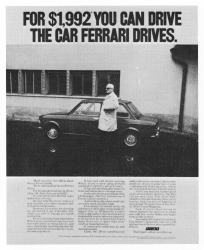 """For $1,992 you can drive the car Ferrari drives."""