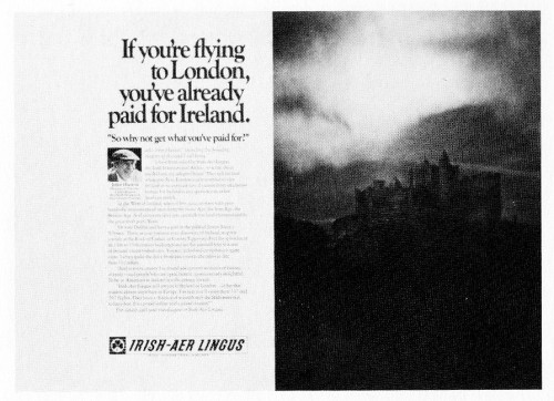 """If you're flying to London,..."""
