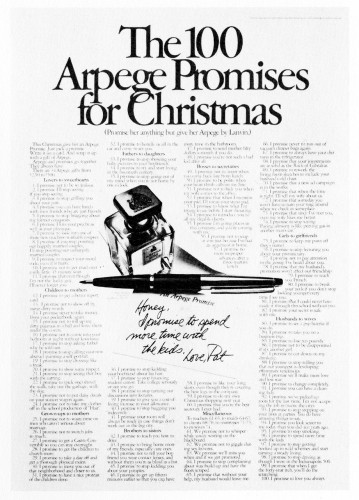 """The 100 Arpege Promises for Christmas."""