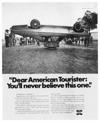 """Dear American Tourister: You'll never believe this one."""
