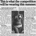"""This is what the competition will be wearing this summer."""