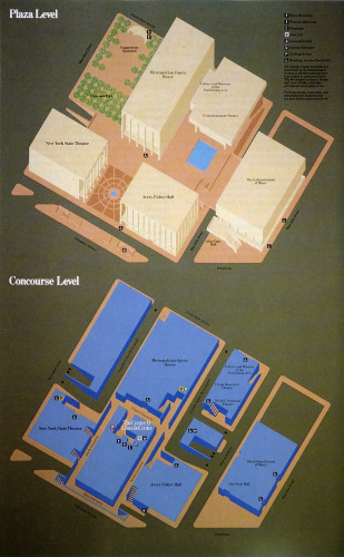 Lincoln Center Map 1981