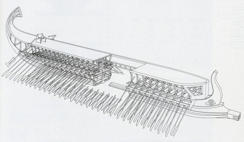 Cutaway View of a Greek Trireme