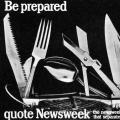 Be prepared quote Newsweek poster