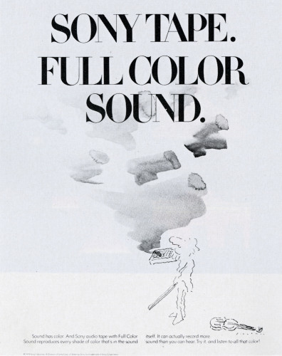 Full Color sound. Sony Tape
