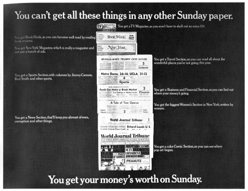 You Can't Get all These Things in any Other Sunday Paper, poster