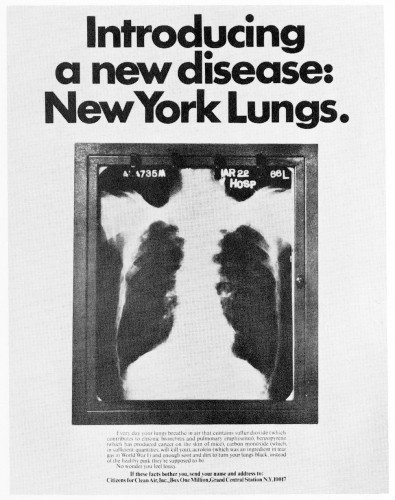 Introducing a new disease:  New York Lungs.