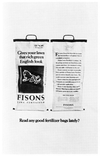 Read any good fertilizer bags lately?