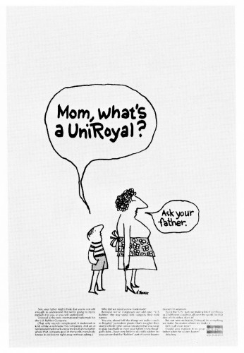 Mom, what's a Uniroyal?