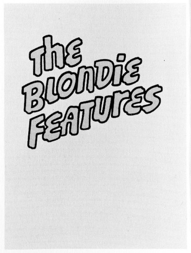 The Blondie Features, book