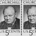 U.S. Churchill Commemorative 5c stamp