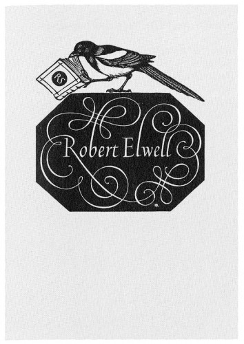 Robert Elwell, bookplate