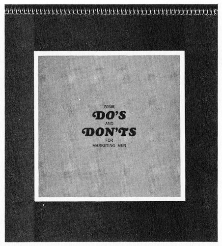 Some Do's and Don'ts for Marketing Men, brochure