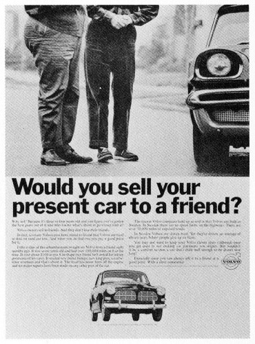 Would you sell your present car…?