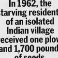 In 1962, the starving residents…