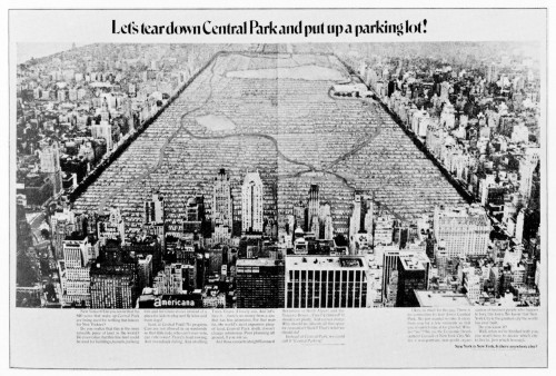 Let's tear down Central Park...