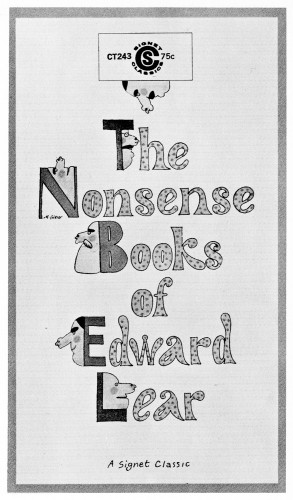 The Nonsense Books of Edward Lear, paperback book cover