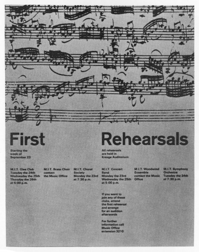 First Rehearsals, poster