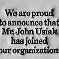 John Usiak, proof-mat as business card